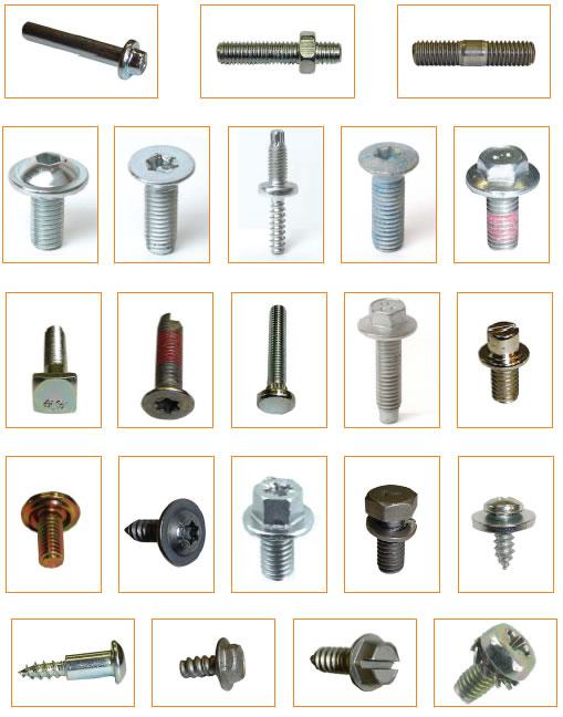 Ejemplos de tornillos fabricados por INDUSTRIAS LOTU S.A.